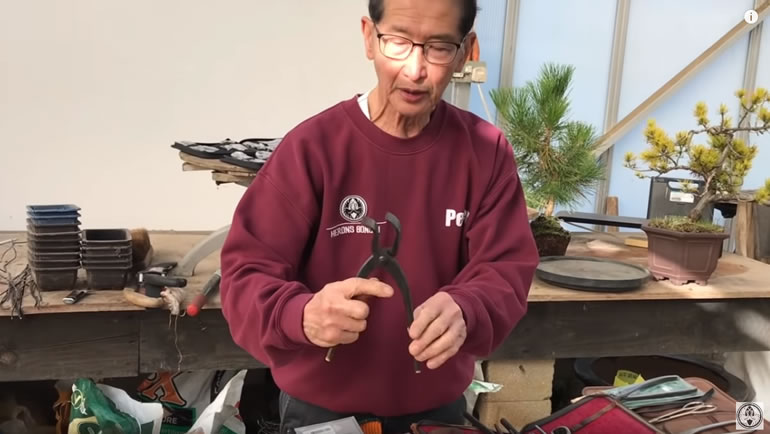Peter holding duck bill jin pliers