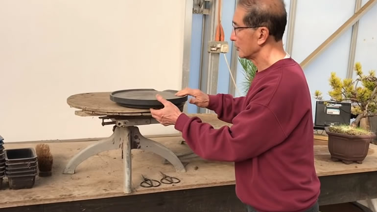 japanese bonsai turntable