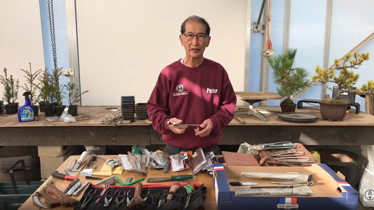 Peter with Bonsai Tools
