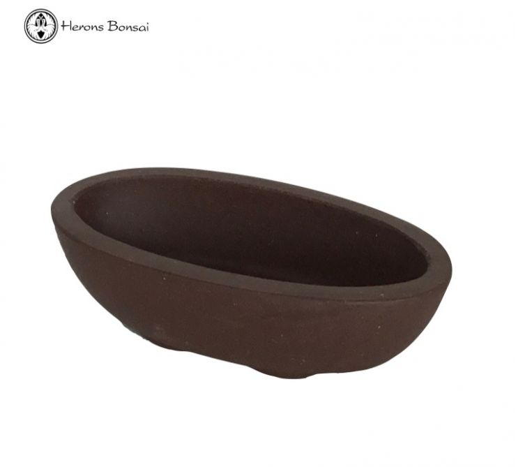 Mame Bonsai Pot (8cm) | Unglazed Oval