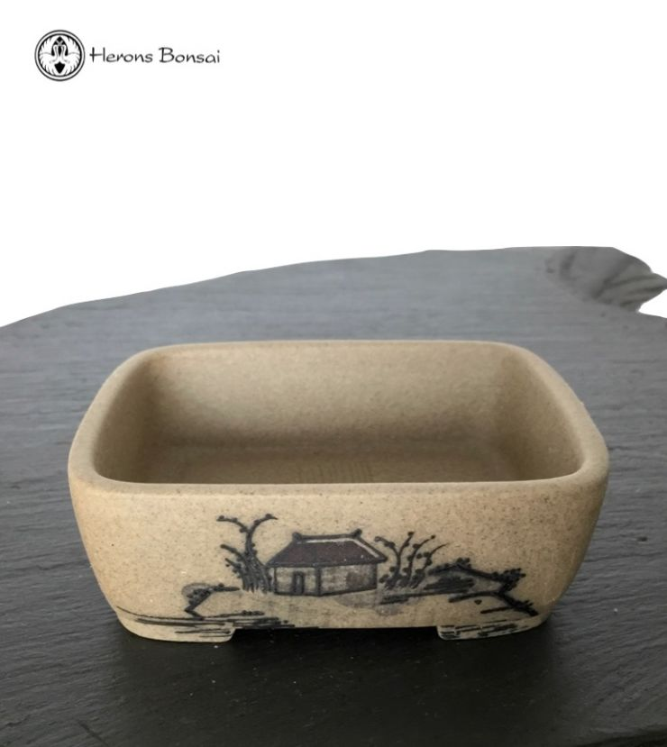 Japanese Unglazed Mame Bonsai Pot (8cm)