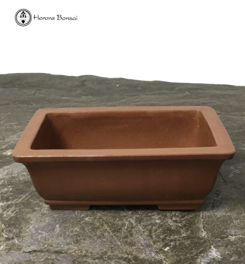 Small Japanese Unglazed Ceramic Bonsai Pot (14cm)