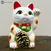 ceramic lucky waving cat | maneki-neko