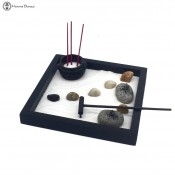 small desk incense zen garden