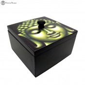 artistic buddha face keepsake box