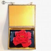 Lacquered Jewellery Box - Rose fronted