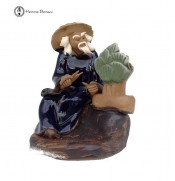 Creativity Figurine with Bonsai Tree | Scissors
