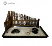 Decorative Zen Garden with Bamboo Fence