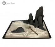 Decorative Zen Garden with Rocks