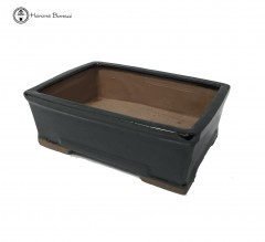 Black Rectangular Ceramic Bonsai Pot (21cm)