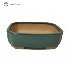 Green Rectangle Irregular Bonsai Pot (15cm)