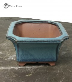 Blue Glazed Cascade Bonsai Pot (15.5)