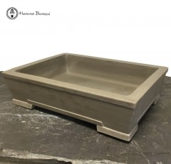 Unglazed Rectangle Ceramic Bonsai Pots (34cm)
